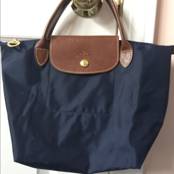 Longchamp Le Pliage Navy Blue Top-Handle mini-bag